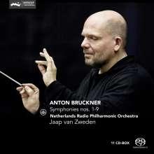 Anton Bruckner (1824-1896): Symphonien Nr.1-9, 11 Super Audio CDs