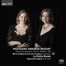 Wolfgang Amadeus Mozart (1756-1791): Klavierkonzerte Nr.11-13 (für Klavier, 2 Violinen, Viola, Kontrabass), Super Audio CD