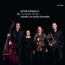"Astor Piazzolla (1921-1992): Tangos für Bandoneon, Violine, Kontrabass & Klavier ""Complete Tango!"", 3 CDs"