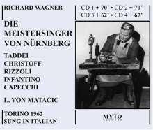 Richard Wagner (1813-1883): Die Meistersinger von Nürnberg (in ital.Spr.), 4 CDs