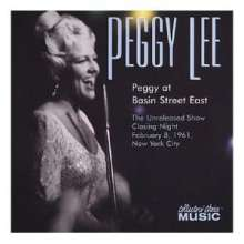 Peggy Lee (1920-2002): Live At Basin Street East, CD