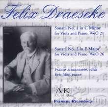 Felix Draeseke (1835-1913): Sonaten für Viola & Klavier Nr.1 & 2, CD