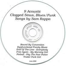 Sam Rappa: Clogged Sinus Blues/Funk, CD