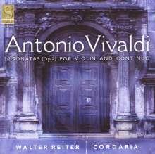 Antonio Vivaldi (1678-1741): Sonaten für Violine & Bc op.2 Nr.1-12, 2 CDs