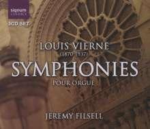 Louis Vierne (1870-1937): Orgelsymphonien Nr.1-6, 3 CDs