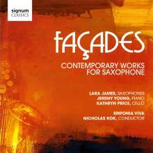 Lara James - Facades (Contemporary Works for Saxophone), CD
