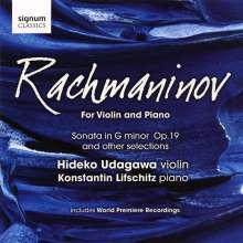 Sergej Rachmaninoff (1873-1943): Werke für Violine & Klavier, CD