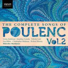 Francis Poulenc (1899-1963): Sämtliche Lieder Vol.2, CD