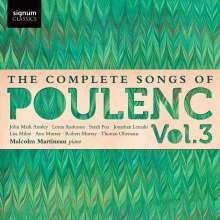 Francis Poulenc (1899-1963): Sämtliche Lieder Vol.3, CD