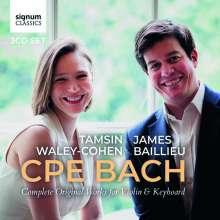 Carl Philipp Emanuel Bach (1714-1788): Sämtliche Werke für Violine & Klavier, 3 CDs