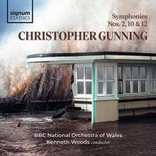 Christopher Gunning (geb. 1944): Symphonien Nr.2,10,12, CD