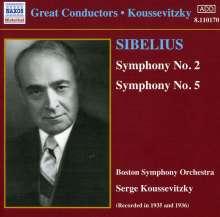 Jean Sibelius (1865-1957): Symphonien Nr.2 & 5, CD