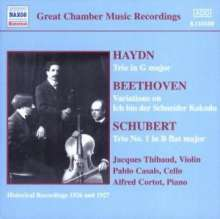 Franz Schubert (1797-1828): Klaviertrio Nr.1 D.898, CD