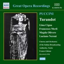 Giacomo Puccini (1858-1924): Turandot, 2 CDs