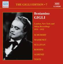 Benjamino Gigli- Edition Vol.7, CD