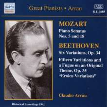 Claudio Arrau spielt Mozart & Beethoven, CD