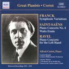 Alfred Cortot spielt französische Klavierkonzerte, CD