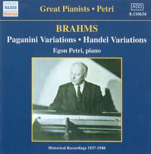 Johannes Brahms (1833-1897): Paganini-Variationen op.35, CD