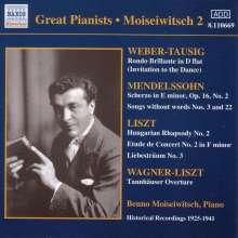 Benno Moiseiwitsch,Klavier Vol.2, CD