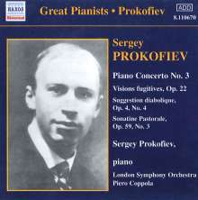Serge Prokofieff (1891-1953): Klavierkonzert Nr.3, CD