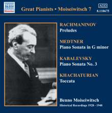 Benno Moiseiwitsch,Klavier, CD