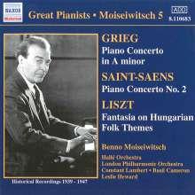 Benno Moiseiwitsch spielt Klavierkonzerte, CD