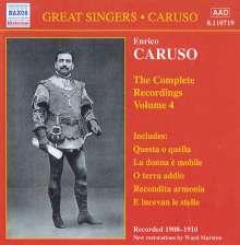 Enrico Caruso:The Complete Recordings Vol.4, CD