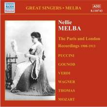 Nellie Melba - The Paris and London Recordings (1908-1913), CD