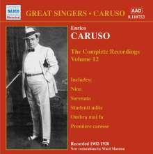 Enrico Caruso:The Complete Recordings Vol.12, CD