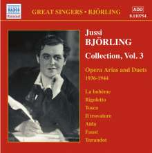 Jussi Björling - Collection Vol.3, CD