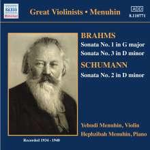 Johannes Brahms (1833-1897): Sonaten für Violine & Klavier Nr.1 & 3, CD