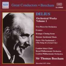 Frederick Delius (1862-1934): Orchesterwerke Vol.1, CD