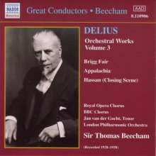 Frederick Delius (1862-1934): Orchesterwerke Vol.3, CD