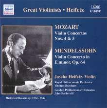 Heifetz spielt Violinkonzerte, CD