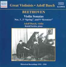 Ludwig van Beethoven (1770-1827): Violinsonaten Nr.3,5,9, CD