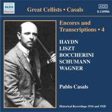 Pablo Casals - Encores and Transkriptions Vol.4, CD