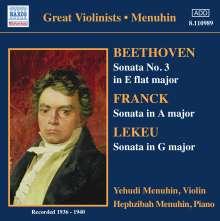 Yehudi Menuhin spielt Violinsonaten, CD