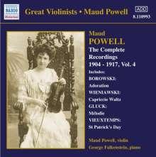 Maud Powell - Sämtliche Aufnahmen Vol.4, CD