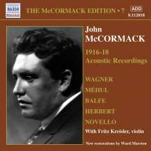 John McCormack-Edition Vol.7/The Acoustic Recordings 1916-18, CD