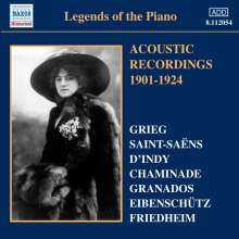 Legends of the Piano - Acoustic Recordings 1901-1924, CD