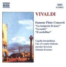Antonio Vivaldi (1678-1741): Flötenkonzerte op.10 Nr.1-3,5, CD