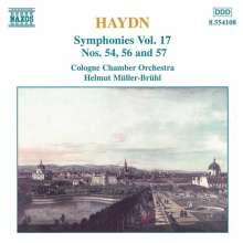 Joseph Haydn (1732-1809): Symphonien Nr.54,56,57, CD