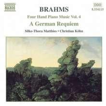 Johannes Brahms (1833-1897): Klaviermusik zu 4 Händen Vol.5, CD