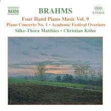 Johannes Brahms (1833-1897): Klaviermusik zu 4 Händen Vol.9, CD