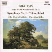 Johannes Brahms (1833-1897): Klaviermusik zu 4 Händen Vol.6, CD