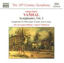Johann Baptist (Jan Krtitel) Vanhal (1739-1813): Symphonien Vol.2, CD