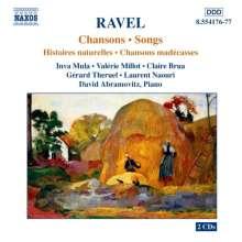Maurice Ravel (1875-1937): Lieder, 2 CDs