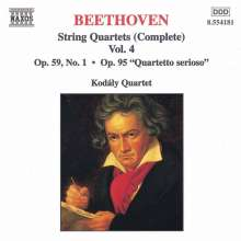 Ludwig van Beethoven (1770-1827): Streichquartette Nr.7 & 11, CD