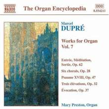 Marcel Dupre (1886-1971): Orgelwerke Vol.7, CD