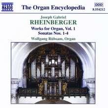 Josef Rheinberger (1839-1901): Sämtliche Orgelwerke Vol.1, CD